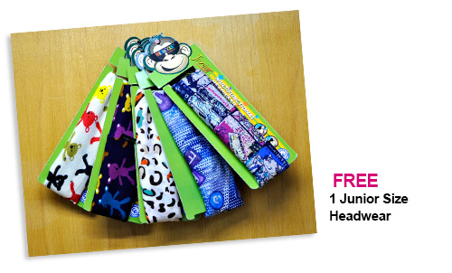 Junior Size Headwear FREE